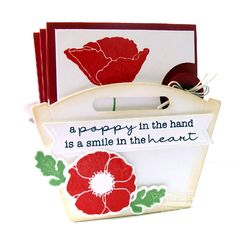 MFT: Pretty Poppies, Flower Box Die: THinkING STAMPS: Poppy Gift Set