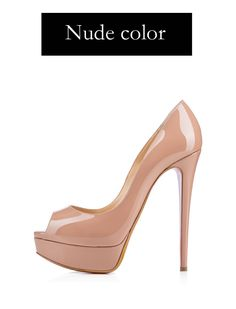 Original Intention Women Pumps New Fashion Sexy Peep Toe Thin High Heels Shoes Woman Pumps Plus US Size Source by clarypereda Shoes for prom High Heels For Prom, Red High Heel Shoes, High Heels Outfit, Cute High Heels, Beautiful High Heels, Peep Toe Shoes, Platform High Heels, High Heel Pumps, Womens High Heels