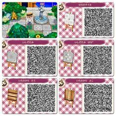 Animal Crossing New Leaf QR Code pathways! Animal Crossing 3ds, Animal Crossing Qr Codes Clothes, Animal Crossing Pocket Camp, Acnl Paths, Motif Acnl, Code Wallpaper, Ac New Leaf, Happy Home Designer, Path Design