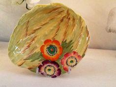 Vintage Carlton Ware Anemone pattern dish by Mercysemporium,