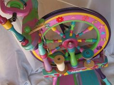 Spinning Wheel. Wow that is colorful!