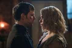 Harry Treadaway as Dr. Victor Frankenstein and Billie Piper as Lily on Penny Dreadful