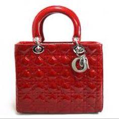 Red Dior bag