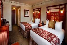Top 10 Reasons to Stay at Disney's Grand Californian Hotel & Spa Hotel Decor, Hotel Spa, Disney Grand Californian Hotel, Disney California Adventure Park, Disneyland Vacation, Disney Hotels, Lego Disney, Queen Beds, Furniture