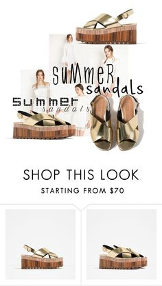 """""""2016 summer sandals"""" by vaughnroyal ❤ liked on Polyvore featuring Zara"""