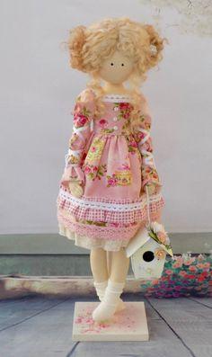 Tilda Doll Katrin 32 cm-Handmade Doll-Vintage by HandmadeDollhouse