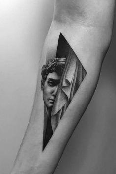 ☆彡always trade lemons for oranges☆彡  @xoxojamm Statue Tattoo, Black Snake Tattoo, Black Work Tattoo, Black Tattoos, Future Tattoos, New Tattoos, Small Tattoos, Tattoos For Guys, Body Art Tattoos