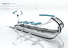 Nerpa Transformable Dog Sledge for North Russia Environment - Nerpa concept dog sledge is adjusted to suit contemporary modern life and made of high quality tensile materials (aluminum alloy, carbon fiber, frost-hardy rubber). Durable fabric protects passengers from wind and snowstorm. Designer : Khitrova Anna | via Tuvie