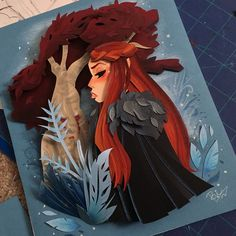 A stunning paper art inspired by the hit tv show Game of Thrones. Sansa was designed colored and cut by hand. She is framed in a black shadow box. Lightbox Art, The North Remembers, Tv Show Games, Game Of Thrones Art, Black Shadow, Sansa Stark, Shadow Box, Paper Cutting, Amazing Art