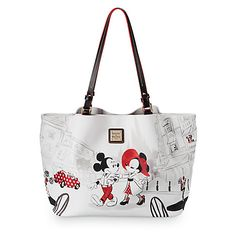 Disney Dooney and Bourke Mickey and Minnie Cafet Leather Tote - how cute is THIS thing??