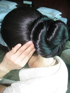 201011421245929948 | lijinlei | Flickr Long Black Hair, Long Hair Cuts, Long Hair Styles, Bun Hairstyles For Long Hair, Braids For Long Hair, Super Long Hair, Big Hair, Long Indian Hair, Bridal Hair Buns