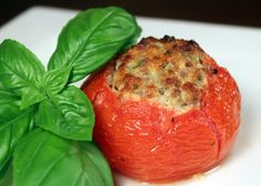 Italian Sausage and Cheese Stuffed Tomato
