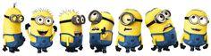 Minions Várias Emoções em diferentes expressões