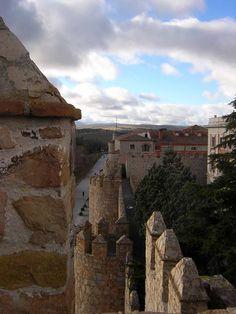 A cidade murada de Ávila, Espanha