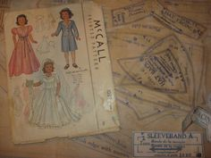 ORIGINAL Doll Clothes PATTERN 1089 for 18 inch Little Lady Dolls by Effanbee #McCalls