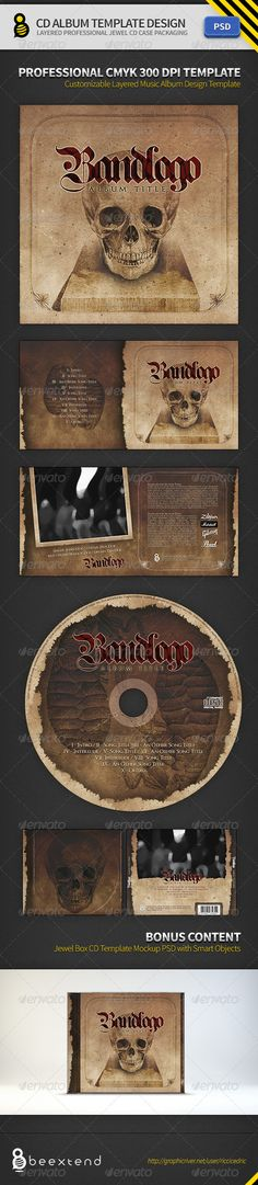CD Album Template Design