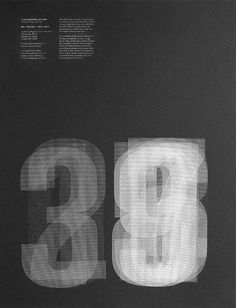 Graphic poster with transparent numbers —