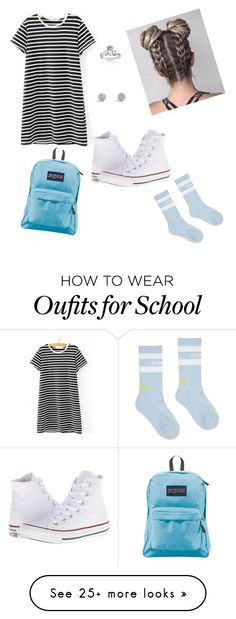 """Back to School"" by kgambla on Polyvore featuring WithChic, West Coast Jewelry, JanSport, Vetements and Converse"