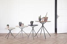 The Frisbee Tables designed by Herman Cph. Spotted by @missdesignsays |#allgoodthingsdanish #danishdesign at #northmodern #copenhagen