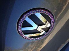 Rhinestoned Volkswagen emblem
