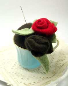 pincushion picyures | felted pin cushion by finding beauty at home