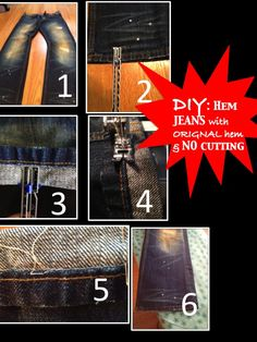 Two It Yourself: How to hem jeans with original hem without cutting