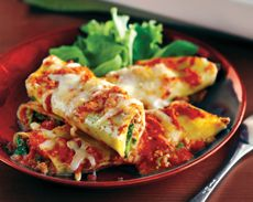 Chicken and Rapini Manicotti from Comliments.ca.