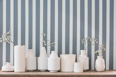 Stripes will never date. They can be playful, sophisticated or bold. You can use them in any space, from the living room, to the hallway. And best of all, they're easy to do. This elegant striped effect uses Denim Drift and New Meringue to create a striking backdrop.