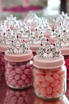Princess lolly jars + crown.