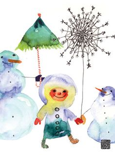 Greeting Cards | Illustration | Goods - Collection - snow friends