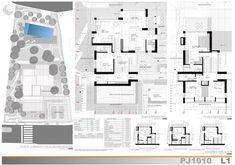 Casas en pendiente: 17 ejemplos de cómo adaptarse a un terreno inclinado - AboutHaus Houses On Slopes, Modern Architecture House, Floor Plans, How To Plan, Home Architecture, Minimalist Home, Log Cabin Houses, Steel Frame Homes, Mediterranean Houses