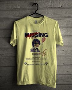 IT 2017 Movie Missing Richie Tozier Poster T-Shirt This t-shirt is Made To Order, one by one printed so we can control the quality. Clown Clothes, Its 2017, Fendi, Movie Shirts, Direct To Garment Printer, Cool Shirts, Funny Shirts, Pull, Aesthetic Clothes