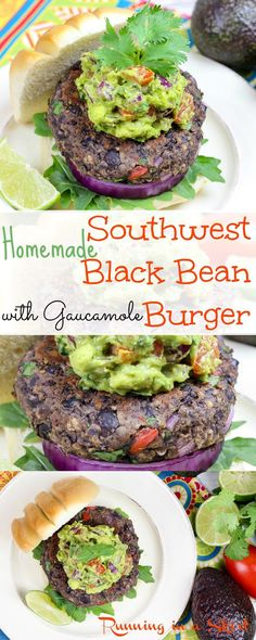 Easy & Healthy Homemade Southwest Black Bean Burgers with guacamole. A vegetaria… Easy & Healthy Homemade Southwest Black Bean Burgers with guacamole. A vegetaria… – Burgers – Veggie Recipes, Whole Food Recipes, Vegetarian Recipes, Cooking Recipes, Healthy Recipes, Homemade Veggie Burgers, Hamburger Recipes, Grilling Recipes, Dinner Recipes