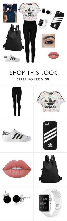"""""""School"""" by theresa-t ❤ liked on Polyvore featuring Wolford, adidas Originals, adidas, Lime Crime and Bling Jewelry"""