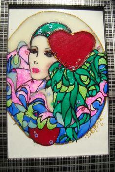 Arlekino Glass painting Mirjana Selena
