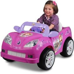 Convertible Battery Powered Ride On Car Disney Sofia Princess Dress Up Bicycle