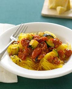 Spaghetti Squash With Roasted Vegetables - Easy Recipes