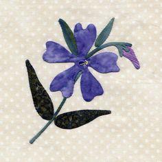 25 different wild flower quilt.  blocks - wild blue phlox