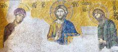 Renaissance Kunst, Christ Pantocrator, Images Of Christ, Byzantine Icons, The Good Shepherd, Hagia Sophia, Roman Art, Gold Background, Primitive