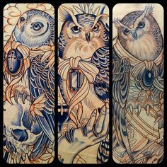 Owls- OMG!  I want these panels!