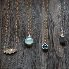 Brooklyn Grace. Newport Beach Ocean Blue. Charm. Necklace. via Etsy. I'll take them all, K thanks.