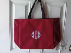 Monogram Tote Bag with Embroidery of Name or by finethreadart, $12.50 Circle Monogram