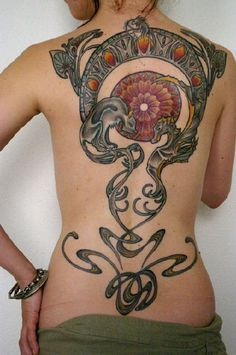 art nouveau tattoos | Awesome Art Nouveau Tattoo