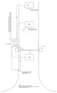 Wiring Diagram for Driveway Gate Automation with Telephone Entry