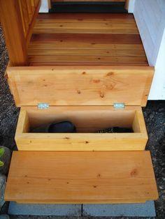 Tiny House shoe storage solution.