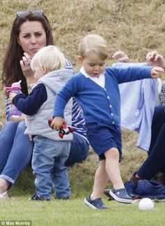 The Duchess of Cambridge and Prince George.