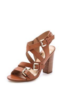 Beet Strappy Sandals