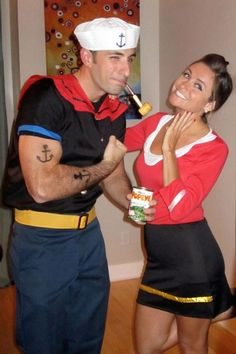 Couples Halloween Costumes Popeye