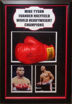 Mike Tyson/Evander Holyfield Signed Boxing Glove