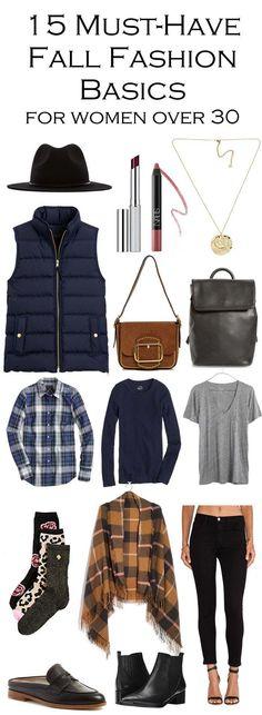 Best 2017 Fall Fashion Trends & Closet Essentials - Women over 30